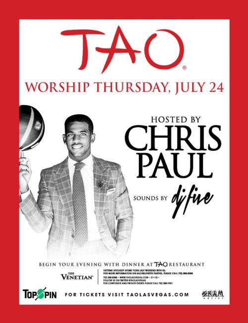 TAO Nightclub,Las Vegas, Worship Thursdays Featuring Chris Paul